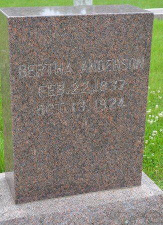 ANDERSON, BERTHA - Union County, South Dakota | BERTHA ANDERSON - South Dakota Gravestone Photos