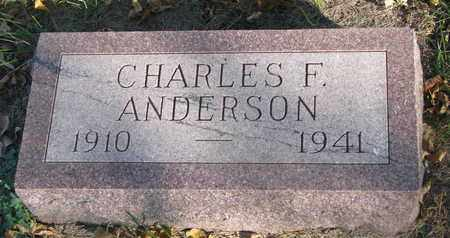 ANDERSON, CHARLES F. - Union County, South Dakota | CHARLES F. ANDERSON - South Dakota Gravestone Photos