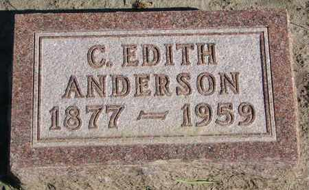 ANDERSON, C. EDITH - Union County, South Dakota | C. EDITH ANDERSON - South Dakota Gravestone Photos
