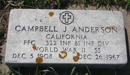 ANDERSON, CAMPBELL J. (WORLD WAR II) - Union County, South Dakota | CAMPBELL J. (WORLD WAR II) ANDERSON - South Dakota Gravestone Photos