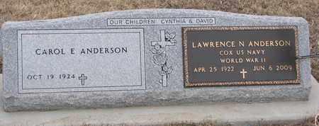 ANDERSON, CAROL E. - Union County, South Dakota | CAROL E. ANDERSON - South Dakota Gravestone Photos