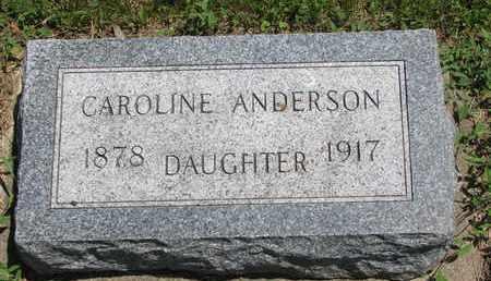 ANDERSON, CAROLINE - Union County, South Dakota | CAROLINE ANDERSON - South Dakota Gravestone Photos