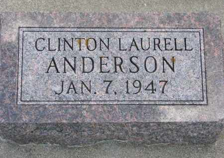 ANDERSON, CLINTON LAURELL - Union County, South Dakota | CLINTON LAURELL ANDERSON - South Dakota Gravestone Photos