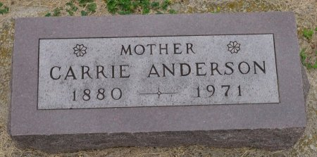 ANDERSON, CARRIE - Union County, South Dakota | CARRIE ANDERSON - South Dakota Gravestone Photos