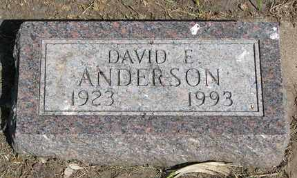 ANDERSON, DAVID E. - Union County, South Dakota   DAVID E. ANDERSON - South Dakota Gravestone Photos
