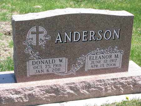 ANDERSON, DONALD W. - Union County, South Dakota | DONALD W. ANDERSON - South Dakota Gravestone Photos