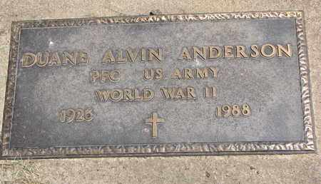 ANDERSON, DUANE ALVIN (WORLD WAR II) - Union County, South Dakota | DUANE ALVIN (WORLD WAR II) ANDERSON - South Dakota Gravestone Photos