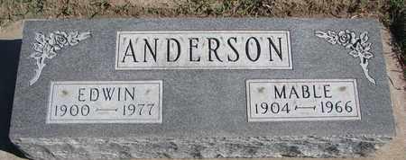 ANDERSON, EDWIN - Union County, South Dakota | EDWIN ANDERSON - South Dakota Gravestone Photos