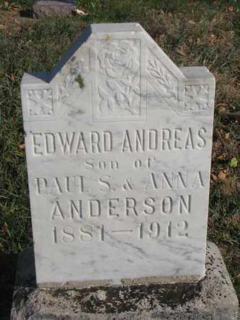 ANDERSON, EDWARD ANDREAS - Union County, South Dakota | EDWARD ANDREAS ANDERSON - South Dakota Gravestone Photos