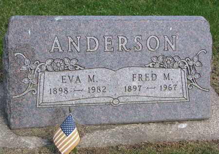 ANDERSON, FRED M. - Union County, South Dakota | FRED M. ANDERSON - South Dakota Gravestone Photos