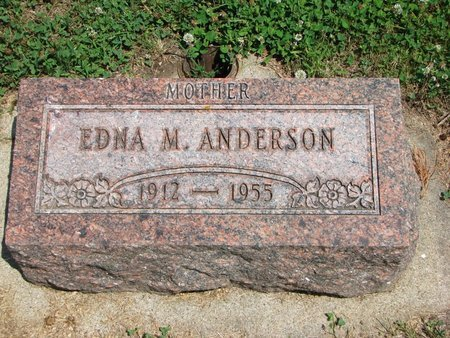 OLSON ANDERSON, EDNA M. - Union County, South Dakota | EDNA M. OLSON ANDERSON - South Dakota Gravestone Photos