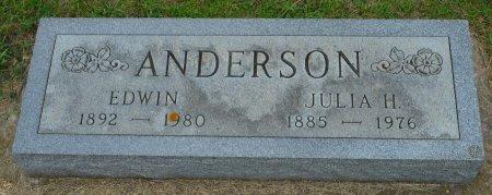 ANDERSON, EDWIN - Union County, South Dakota   EDWIN ANDERSON - South Dakota Gravestone Photos