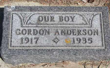 ANDERSON, GORDON - Union County, South Dakota | GORDON ANDERSON - South Dakota Gravestone Photos