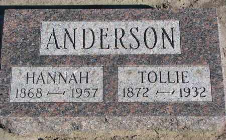 ANDERSON, TOLLIE - Union County, South Dakota | TOLLIE ANDERSON - South Dakota Gravestone Photos