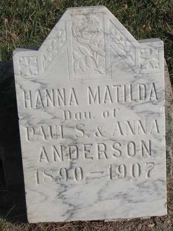 ANDERSON, HANNA MATILDA - Union County, South Dakota   HANNA MATILDA ANDERSON - South Dakota Gravestone Photos