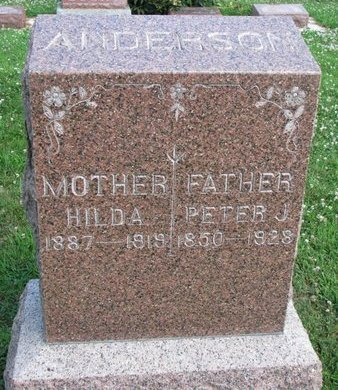 ANDERSON, HILDA - Union County, South Dakota | HILDA ANDERSON - South Dakota Gravestone Photos