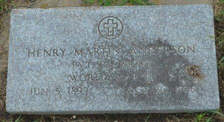 ANDERSON, HENRY MARTIN (WORLD WAR II) - Union County, South Dakota   HENRY MARTIN (WORLD WAR II) ANDERSON - South Dakota Gravestone Photos