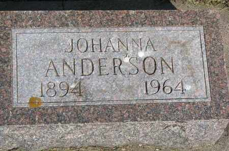 ANDERSON, JOHANNA - Union County, South Dakota | JOHANNA ANDERSON - South Dakota Gravestone Photos