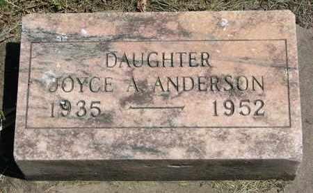 ANDERSON, JOYCE A. - Union County, South Dakota   JOYCE A. ANDERSON - South Dakota Gravestone Photos