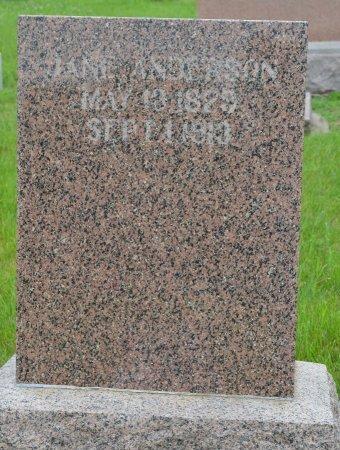 ANDERSON, JANE - Union County, South Dakota   JANE ANDERSON - South Dakota Gravestone Photos