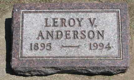 ANDERSON, LEROY V. - Union County, South Dakota | LEROY V. ANDERSON - South Dakota Gravestone Photos