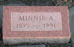 ANDERSON, MINNIE A - Union County, South Dakota | MINNIE A ANDERSON - South Dakota Gravestone Photos