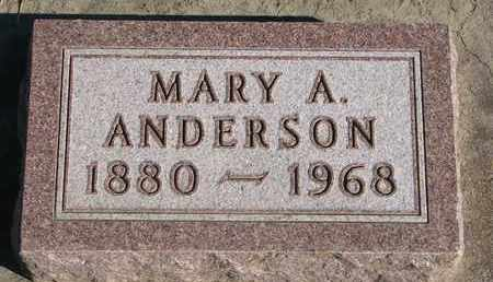 ANDERSON, MARY A. - Union County, South Dakota | MARY A. ANDERSON - South Dakota Gravestone Photos