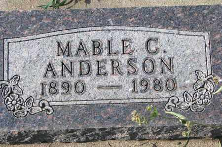ANDERSON, MABLE C. - Union County, South Dakota | MABLE C. ANDERSON - South Dakota Gravestone Photos