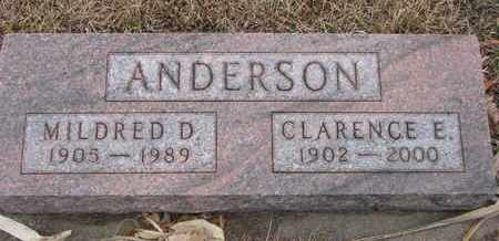 ANDERSON, MILDRED D. - Union County, South Dakota | MILDRED D. ANDERSON - South Dakota Gravestone Photos