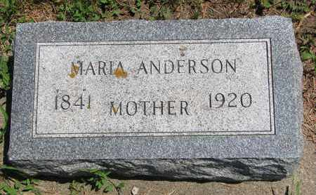 ANDERSON, MARIA - Union County, South Dakota | MARIA ANDERSON - South Dakota Gravestone Photos