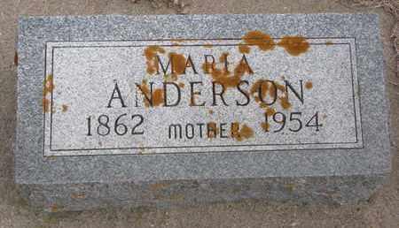 ANDERSON, MARIA - Union County, South Dakota   MARIA ANDERSON - South Dakota Gravestone Photos