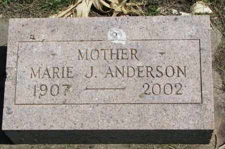 ANDERSON, MARIE J. - Union County, South Dakota | MARIE J. ANDERSON - South Dakota Gravestone Photos