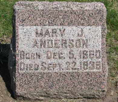 ANDERSON, MARY J. - Union County, South Dakota | MARY J. ANDERSON - South Dakota Gravestone Photos