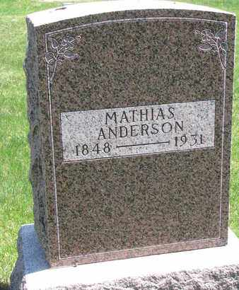 ANDERSON, MATHIAS - Union County, South Dakota | MATHIAS ANDERSON - South Dakota Gravestone Photos