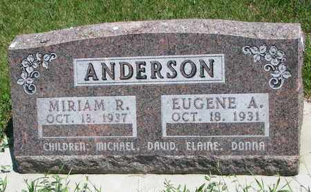 ANDERSON, MIRIAM R. - Union County, South Dakota | MIRIAM R. ANDERSON - South Dakota Gravestone Photos