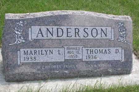 ANDERSON, THOMAS D. - Union County, South Dakota   THOMAS D. ANDERSON - South Dakota Gravestone Photos