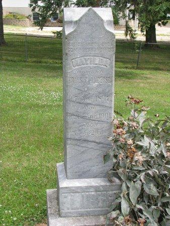 ANDERSON, MATILDA - Union County, South Dakota | MATILDA ANDERSON - South Dakota Gravestone Photos