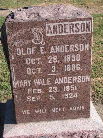 ANDERSON, OLOF E. - Union County, South Dakota   OLOF E. ANDERSON - South Dakota Gravestone Photos