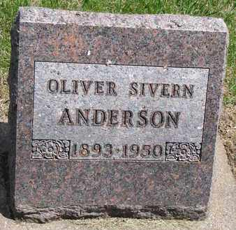 ANDERSON, OLIVER SIVERN - Union County, South Dakota   OLIVER SIVERN ANDERSON - South Dakota Gravestone Photos