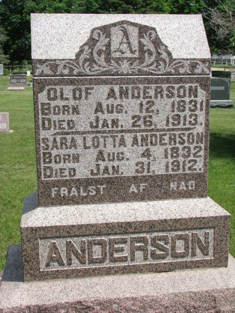 ANDERSON, OLOF - Union County, South Dakota | OLOF ANDERSON - South Dakota Gravestone Photos