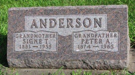 ANDERSON, PETER A. - Union County, South Dakota | PETER A. ANDERSON - South Dakota Gravestone Photos