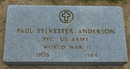 ANDERSON, PAUL SYLVESTER (WORLD WAR II) - Union County, South Dakota | PAUL SYLVESTER (WORLD WAR II) ANDERSON - South Dakota Gravestone Photos