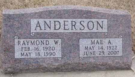 ANDERSON, MAE A. - Union County, South Dakota | MAE A. ANDERSON - South Dakota Gravestone Photos