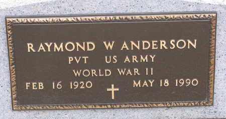 ANDERSON, RAYMOND W. (WORLD WAR II) - Union County, South Dakota   RAYMOND W. (WORLD WAR II) ANDERSON - South Dakota Gravestone Photos