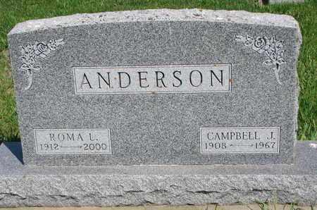 ANDERSON, ROMA LUCLIE - Union County, South Dakota | ROMA LUCLIE ANDERSON - South Dakota Gravestone Photos