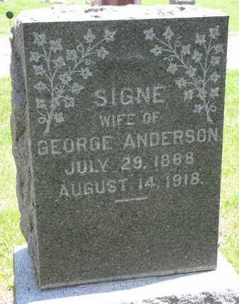 ANDERSON, SIGNE - Union County, South Dakota | SIGNE ANDERSON - South Dakota Gravestone Photos