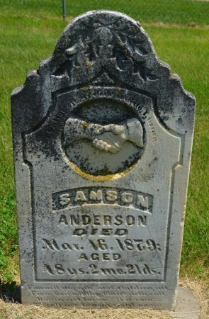 ANDERSON, SAMSON - Union County, South Dakota | SAMSON ANDERSON - South Dakota Gravestone Photos