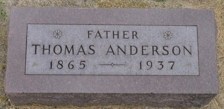 ANDERSON, THOMAS - Union County, South Dakota | THOMAS ANDERSON - South Dakota Gravestone Photos
