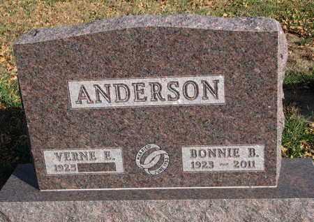 ANDERSON, VERNE E. - Union County, South Dakota | VERNE E. ANDERSON - South Dakota Gravestone Photos