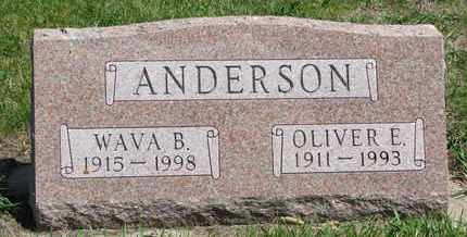 ANDERSON, OLIVER E. - Union County, South Dakota | OLIVER E. ANDERSON - South Dakota Gravestone Photos